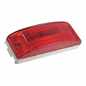 Clearance/Marker Lamp,Optic Lens,LED,Red