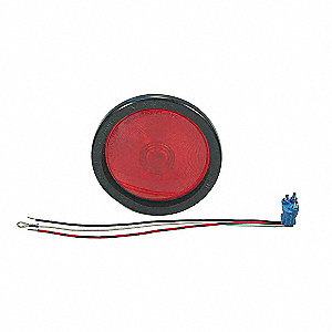 Stop-Turn-Tail Lamp,Red,Round