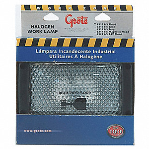 "Flood Light,Rectangular,Halogen,5"" H"