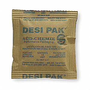 Desiccant,Kraft Packet, 0.42 cu ft,PK550