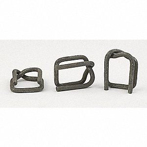 Strapping Buckle,Steel,1-1/4 In.,PK250