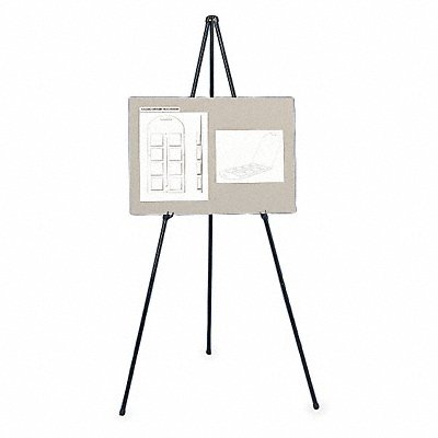 2CY79 - Portable Folding Easel 63 inx34 in Black