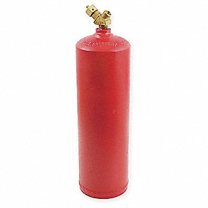Empty Fuel Cylinder,Acetylene,10 Cu Ft