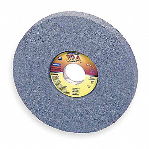 "12"" Recessed Grinding Wheel, 5SG46-IVS, Type 5, 1-1/2"" Thickness, 5"" Arbor Hole, 1/2"" Recess Depth"