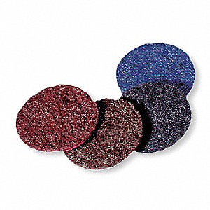"4"" Hook-and-Loop Sanding Disc, Aluminum Oxide, 320 Grit, Very Fine, Non-Woven, Rapid Prep, EA1"