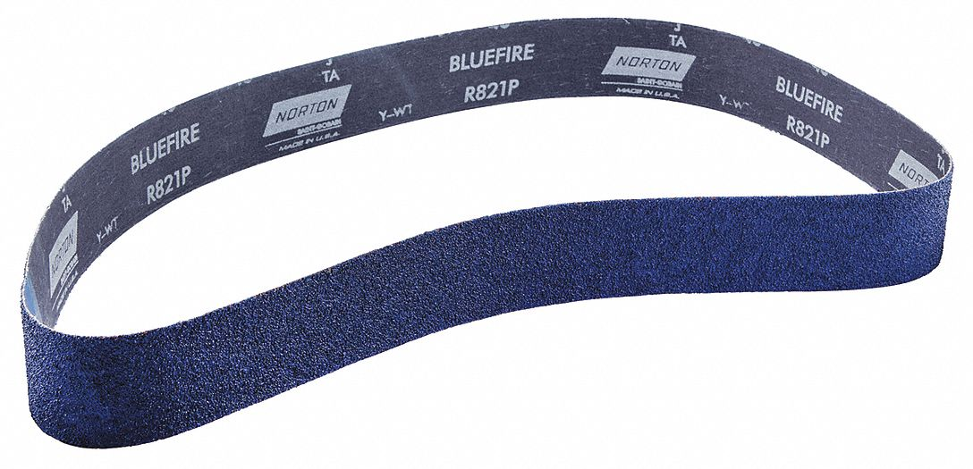 60 Length Pack of 10 Norton BlueFire R821P Benchstand Abrasive Belt Zirconia Alumina Grit 36 Cotton Backing 2-1//2 Width