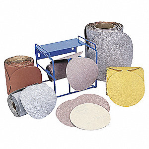 "6"" Coated Sanding Disc Roll, Non-Vacuum, 150 Grit, Medium Grade, Aluminum Oxide, 1 EA"
