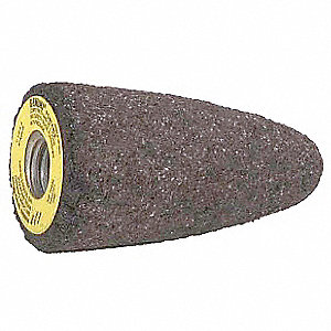 "1-1/2"" Grinding Cone, 2-1/2"" Thickness, Aluminum Oxide, 24 Grit"