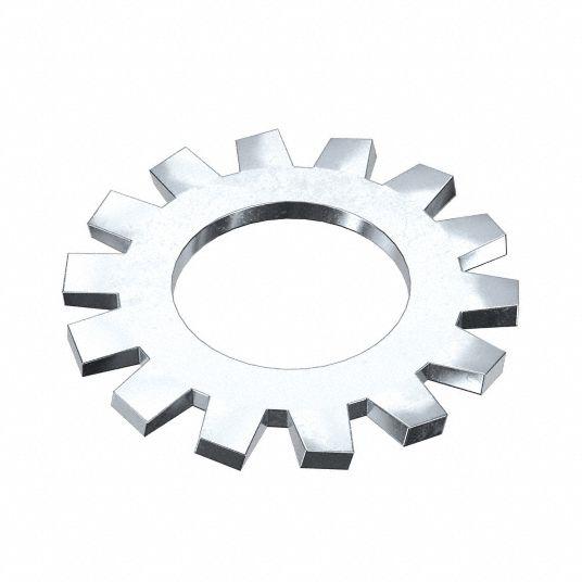 Lock Washer, Bolt 1/4, Carbon Stl, PK100