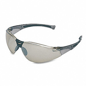 A800 Scratch-Resistant Safety Glasses, Indoor/Outdoor Silver Mirror Lens Color