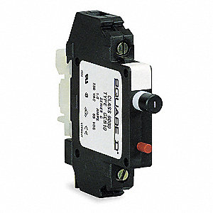 Circuit Protector, 250VAC/65VDC Voltage, 15 Amps