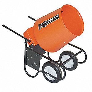 Wheelbarrow Mixer,3.5 Cu. Ft.,120V,3/4HP