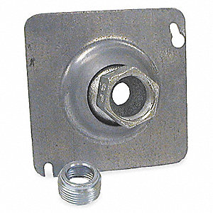 "Galvanized Steel Swivel Fixture Cover, Box Type: Square, Number of Gangs: 1, 4"" Width, 4"" Length"