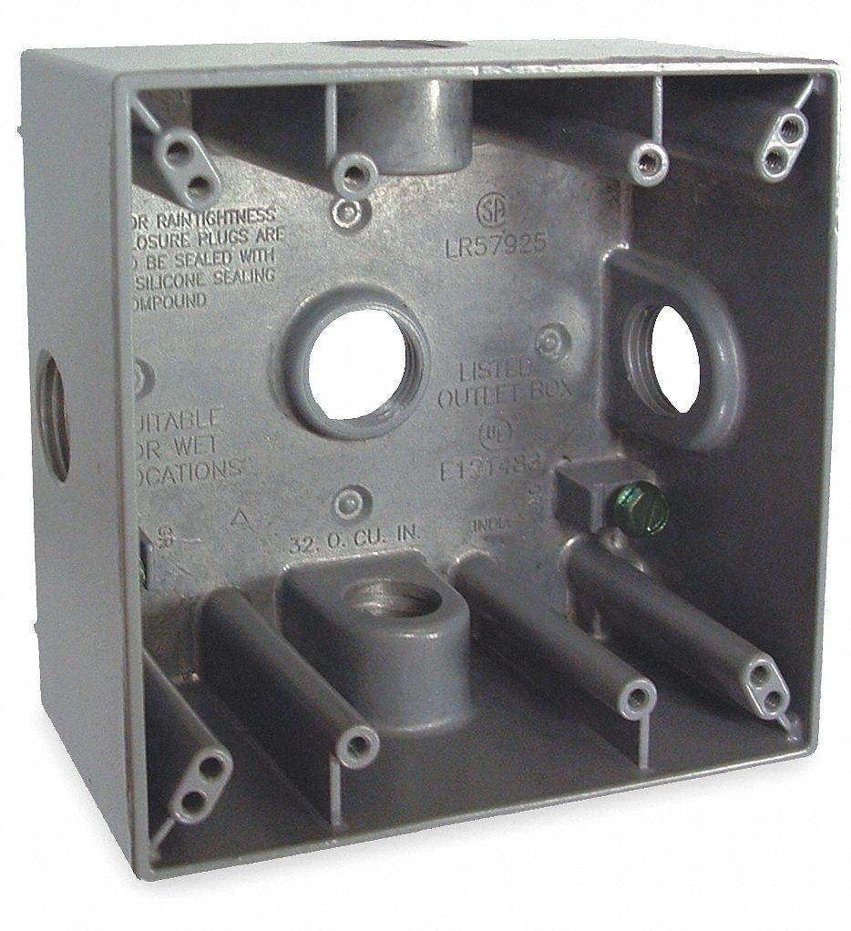 Bell 5346-0 Weatherproof Box,7 Inlets,Aluminum