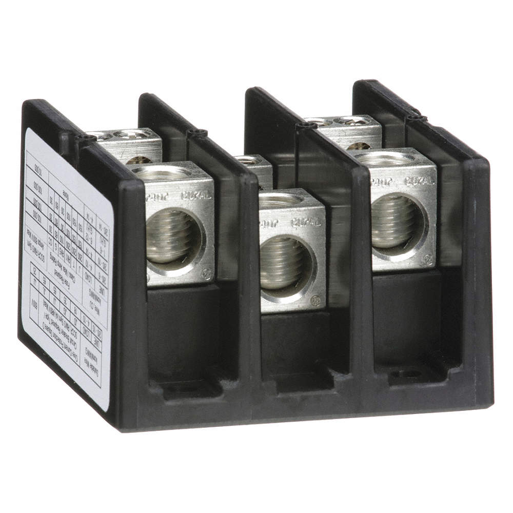 SQUARE D Power Distribution Block, 175 Max. Amps, Number of Poles: 3 ...