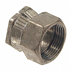 "3/4"" EMT Connector, Two-piece, 13/16"" Overall Length"