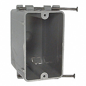 "Electrical Box, PVC, 3-1/4"" Nominal Depth, 2-1/4"" Nominal Width, 3-5/8"" Nominal Length"
