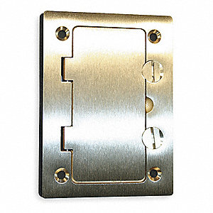hubbell wiring device kellems floor box cover rectangular brass 2ddx1 s3826 grainger. Black Bedroom Furniture Sets. Home Design Ideas