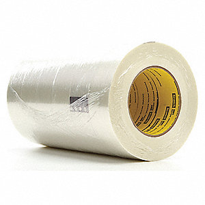 55m 6.60 mil Polypropylene Film Filament Tape, Clear