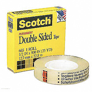 "1"" X 36 yd. Adhesive Transfer Tape Liner, 3.00 mil Thick, 36 PK"