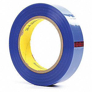 Film Tape,Polyester,Blue,1In x 72Yd,PK36