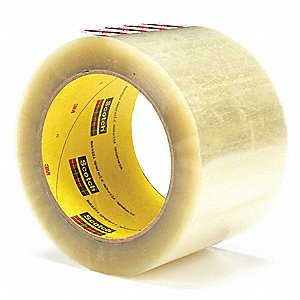 50m x 72mm Polyester Carton Sealing Tape, Clear