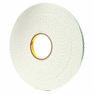 "1/2"" x 108 ft. Urethane Foam Double Sided Tape, 62 mil, 18PK"