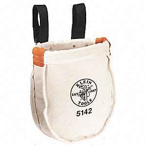 "1-Pocket Canvas General Purpose Tool Tote, 9""H x 10""W x 3""D, White"