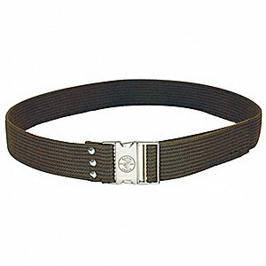 "Brown Tool Belt, Polypropylene Webbing, 48"" Waist Size"