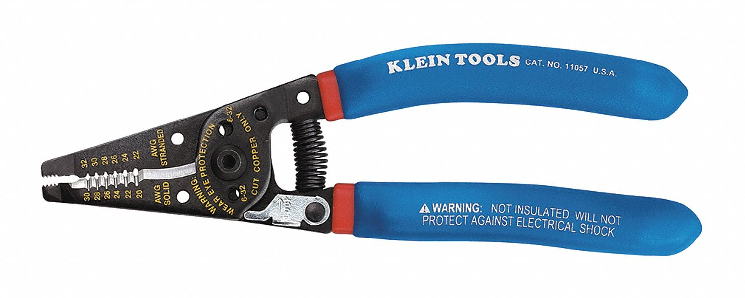 KLEIN TOOLS 7-1/8\'\' Solid and Stranded Curved Wire Stripper, 20 to ...