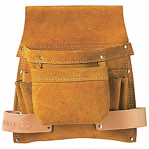 Brown Pouch, Split-Leather, Fits Belts Up To (In.): 3