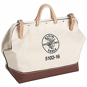 "Wide-Mouth Tool Bag,1 Pocket,22""x6""x15"""