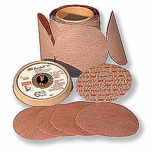 "5"" Hook-and-Loop Sanding Disc, Aluminum Oxide, 30 Grit, Extra Coarse, Coated, 366L, PK500"