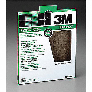 "Fine Aluminum Oxide Sanding Sheet, 150 Grit, 11"" L X 9"" W, Backing Weight : C, 250 PK"