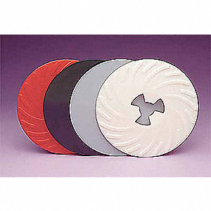 "7"" Diameter Disc Pad Ribbed Face Plate"