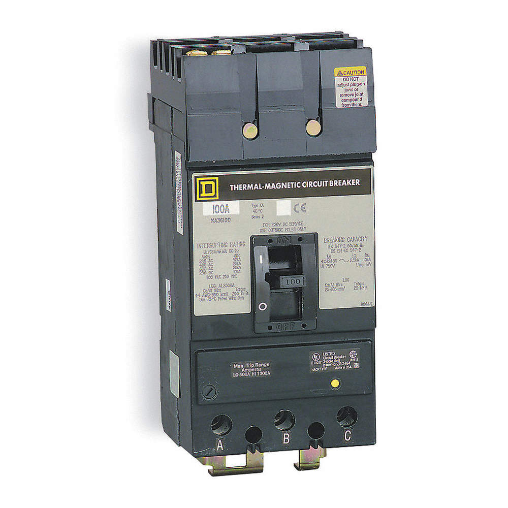 SQUARE D Circuit Breaker, 450 Amps, Number of Poles: 3, 600VAC AC ...