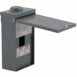 "Circuit Breaker Enclosure, Steel, 3R NEMA Rating, 18.00"" Length, 8.88"" Width, 4.88"" Depth"