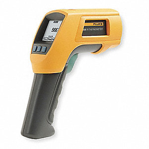 Dot Matrix LCD Infrared Thermometer, Laser Sighting: Single Dot, -40° to 1202° Temp. Range (F)