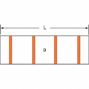 "Short-Barrel Splice, Orange, 3/0 AWG Wire Gauge, Die Code: Thomas and Betts: 3455, 1.90"" Length"
