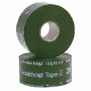 "Vinyl Electrical Tape, Rubber Tape Adhesive, 20.00 mil Thick, 4"" X 100 ft., Black, 4 PK"