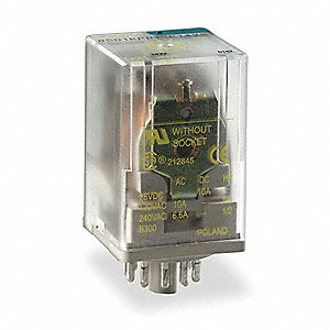 Plug-In Relay, 8 Pins, Octal Base Type, 10A @ 277VAC/30VDC Contact Rating, 120VAC Coil Volts