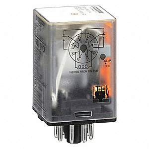 SQUARE D 24VAC Coil Volts, General Purpose Relay, 10A @ 277VAC/10A on spdt relay wiring, plug in relay wiring, dpdt relay wiring, 8 pin relay wiring,
