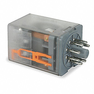 Plug-In Relay, 8 Pins, Octal Base Type, 10A @ 277VAC/30VDC Contact Rating, 240VAC Coil Volts