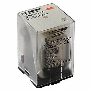24VAC, 11-Pin Octal Base General Purpose Plug-In Relay; AC Contact Rating: 10A @ 277V