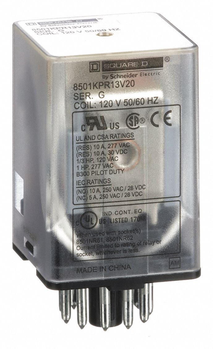 Square D 8501KP13V20 General Purpose 11 Pin Relay 120V 50//60Hz Ser E