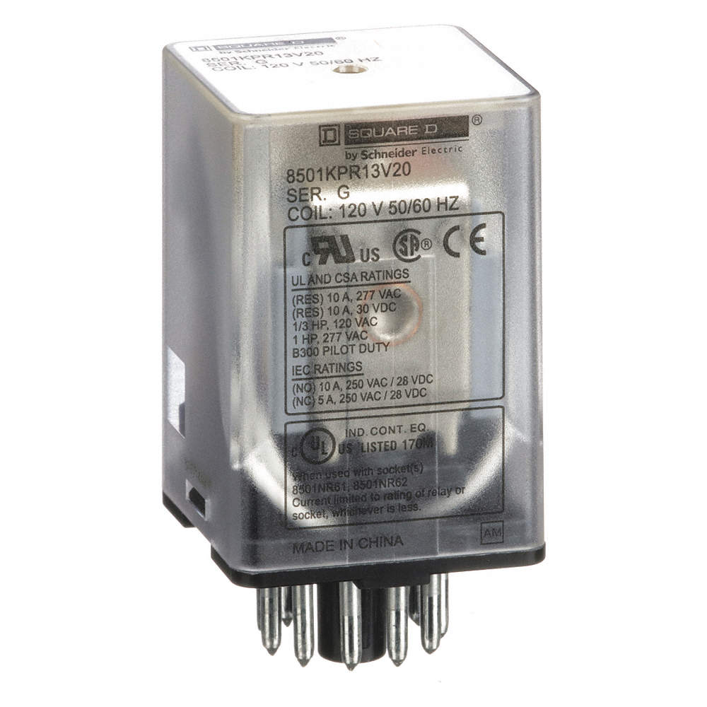 Square D 120vac 11 Pin Octal Base General Purpose Relay With No And Nc Contacts Zoom Out Reset Put Photo At Full Then Double Click