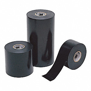 "Vinyl Electrical Tape, Rubber Tape Adhesive, 20.00 mil Thick, 6"" X 100 ft., Black, 4 PK"