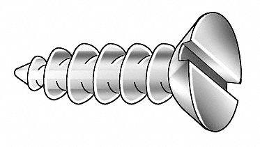 #16 x 2 Wood Screw Phillips Flat Head Low Carbon Steel Zinc Plated Pk 100