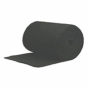 "Carbon Filter Media Roll, MERV 4, 1200"" Length, 24-1/2"" Width"