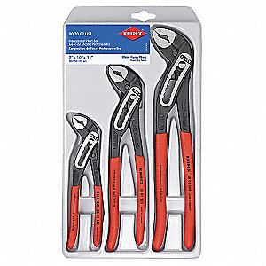 Water Pump Plier Set, Handle Type: Dipped, Number of Pieces: 3